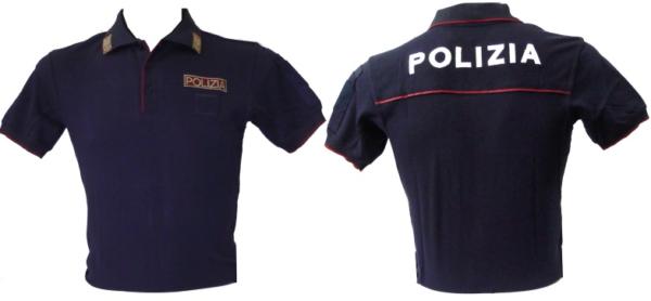 POLO POLIZIA DI STATO MANICA CORTA CON LOGHI