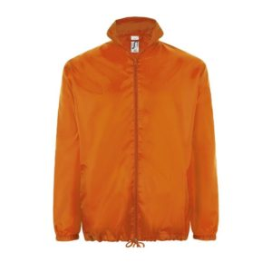 giacca arancio antipioggia