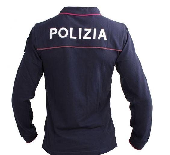 POLO POLIZIA DI STATO MANICA LUNGA CON LOGHI
