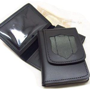 portafoglio Polizia con placca estraibile neutro